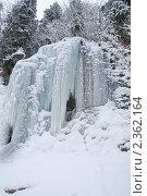 Купить «Домбай.Сосульки. Замерзший водопад.Кавказские горы зимой.», фото № 2362164, снято 20 февраля 2011 г. (c) Федор Королевский / Фотобанк Лори
