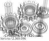 Купить «Шестеренки, 3D», иллюстрация № 2369096 (c) Сахно Роман Викторович / Фотобанк Лори