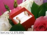 Обручальные кольца в коробке, эксклюзивное фото № 2373856, снято 26 февраля 2011 г. (c) Инна Козырина (Трепоухова) / Фотобанк Лори