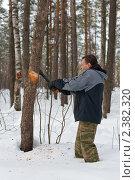 Купить «Дровосек», фото № 2382320, снято 27 февраля 2011 г. (c) Argument / Фотобанк Лори