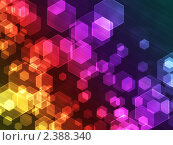 Абстрактный фон с шестиугольниками. Стоковая иллюстрация, иллюстратор Игнатьева Алевтина / Фотобанк Лори