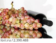 Вино с виноградом. Стоковое фото, фотограф Наталья Иванова / Фотобанк Лори
