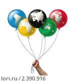 Олимпийский символ из шариков. Стоковая иллюстрация, иллюстратор Дмитрий Куома / Фотобанк Лори