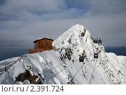 Купить «Канатная дорога на Хинтертукс», фото № 2391724, снято 6 января 2011 г. (c) Юлия Бабкина / Фотобанк Лори