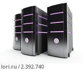 Купить «Компьютерные серверы», иллюстрация № 2392740 (c) Юдин Владимир / Фотобанк Лори