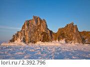 Купить «Байкал. Мыс Бурхан на закате», фото № 2392796, снято 5 марта 2011 г. (c) Виктория Катьянова / Фотобанк Лори