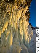 Купить «Сосульки в ледяном гроте на Байкале», фото № 2396748, снято 6 марта 2011 г. (c) Виктория Катьянова / Фотобанк Лори