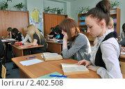 Купить «Старшеклассники на уроке», фото № 2402508, снято 12 марта 2011 г. (c) Вячеслав Палес / Фотобанк Лори