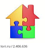Дом из пазлов, иллюстрация № 2406636 (c) Ильин Сергей / Фотобанк Лори