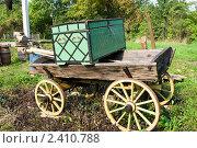 Купить «Старый сундук на телеге», эксклюзивное фото № 2410788, снято 14 сентября 2010 г. (c) Александр Щепин / Фотобанк Лори
