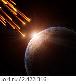 Купить «Столкновение астероидов с Землей», иллюстрация № 2422316 (c) Сергей Куров / Фотобанк Лори