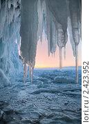 Купить «Вид на зимний Байкал из ледяного грота», фото № 2423952, снято 6 марта 2011 г. (c) Виктория Катьянова / Фотобанк Лори