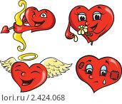 Купить «Сердечки», иллюстрация № 2424068 (c) Татьяна Смирнова / Фотобанк Лори