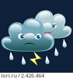 Купить «Ночью облачно с небольшим дождем и грозой», иллюстрация № 2426464 (c) Анастасия Некрасова / Фотобанк Лори