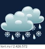 Купить «Ночью облачно с дождем и снегом», иллюстрация № 2426572 (c) Анастасия Некрасова / Фотобанк Лори