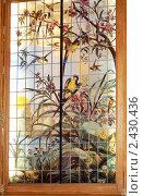 Купить «Витраж с попугаями (Юсуповский дворец на Мойке, Санкт-Петербург)», фото № 2430436, снято 10 мая 2008 г. (c) Владимир Горощенко / Фотобанк Лори