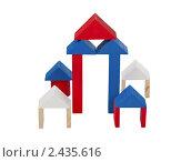 Деревянные кубики на белом фоне. Стоковое фото, фотограф Алексей Климков / Фотобанк Лори