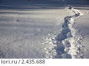 Тропинка в снегу. Стоковое фото, фотограф Кира Малиновская / Фотобанк Лори