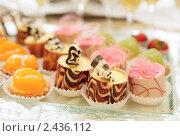 Купить «Десерт на праздничном столе», фото № 2436112, снято 25 марта 2011 г. (c) Федор Кондратенко / Фотобанк Лори