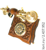 Купить «Ретро-телефон , резкость на трубке», фото № 2437952, снято 16 июня 2010 г. (c) Арсений Герасименко / Фотобанк Лори
