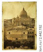 Купить «Базилика Сан-Пьетро, Ватикан», фото № 2442192, снято 15 марта 2010 г. (c) Роман Сигаев / Фотобанк Лори
