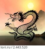 Купить «Восточный символ 2012 года - дракон», иллюстрация № 2443520 (c) ElenArt / Фотобанк Лори