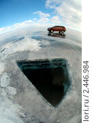 Купить «Машина на льду», фото № 2446984, снято 9 марта 2011 г. (c) Некрасов Андрей / Фотобанк Лори