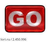 """Купить «Красная кнопка с надписью """"перейти""""», иллюстрация № 2450996 (c) Арсений Герасименко / Фотобанк Лори"""