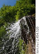 Абхазия. Водопад мужские слезы. Вид снизу (2007 год). Стоковое фото, фотограф Gagara / Фотобанк Лори
