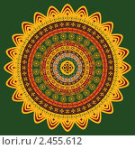 Купить «Индийский орнамент», иллюстрация № 2455612 (c) Инна Грязнова / Фотобанк Лори
