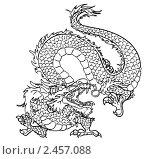 Купить «Восточный дракон, контур», иллюстрация № 2457088 (c) Анастасия Некрасова / Фотобанк Лори