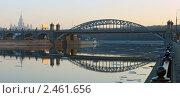 Лужнецкий мост. Перед закатом. Редакционное фото, фотограф Юрий Кирсанов / Фотобанк Лори