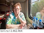Купить «В вагоне», фото № 2462464, снято 1 мая 2010 г. (c) Parmenov Pavel / Фотобанк Лори