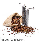 Кофе в мешке. Стоковое фото, фотограф Валентин Олейников / Фотобанк Лори