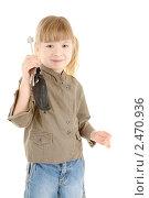 Купить «Девочка с ключами», фото № 2470936, снято 28 февраля 2010 г. (c) Алексей Сергеев / Фотобанк Лори