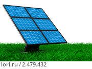 Купить «Солнечная батарея на траве», иллюстрация № 2479432 (c) Ильин Сергей / Фотобанк Лори