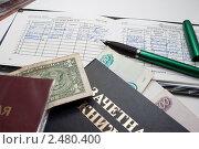 Купить «Оценки за деньги.Взятка», фото № 2480400, снято 6 апреля 2011 г. (c) Сергей Гребеньков / Фотобанк Лори