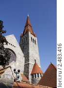 Купить «Кафедральный собор в Тампере», фото № 2483416, снято 5 августа 2009 г. (c) Андрей Ерофеев / Фотобанк Лори