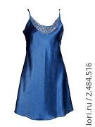 Купить «Синяя атласная ночная рубашка», фото № 2484516, снято 24 марта 2011 г. (c) Руслан Кудрин / Фотобанк Лори
