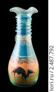 Египетский сувенир. Бутылка с цветным песком. Стоковое фото, фотограф gooclia / Фотобанк Лори