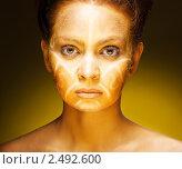 Купить «Красивая девушка с африканским рисунком на лице», фото № 2492600, снято 26 марта 2011 г. (c) Podvysotskiy Roman / Фотобанк Лори