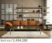 Купить «Интерьер современной гостиной», иллюстрация № 2494288 (c) Hemul / Фотобанк Лори