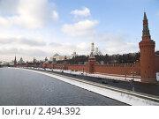 Московский Кремль со стороны набережной (2011 год). Стоковое фото, фотограф Elena Monakhova / Фотобанк Лори