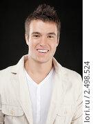 Купить «Портрет молодого человека на черном фоне», фото № 2498524, снято 10 ноября 2010 г. (c) BestPhotoStudio / Фотобанк Лори