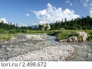 Горная речка. Стоковое фото, фотограф Валерий Шевяков / Фотобанк Лори