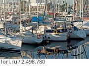 Яхты в порту, Лиссабон. Редакционное фото, фотограф Мария Исаченко / Фотобанк Лори