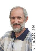 Купить «Улыбающийся пожилой мужчина», фото № 2501196, снято 1 августа 2010 г. (c) Николай Коржов / Фотобанк Лори