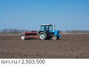 Трактор в поле. Стоковое фото, фотограф Павел Воробьёв / Фотобанк Лори