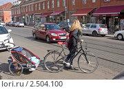 Купить «Детская коляска-прицеп к велосипеду. Потсдам, Германия.», фото № 2504100, снято 26 марта 2011 г. (c) GrayFox / Фотобанк Лори