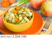 Купить «Салат с яблоками и овощами», эксклюзивное фото № 2504140, снято 26 апреля 2011 г. (c) Давид Мзареулян / Фотобанк Лори